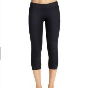 CAbi Cropped Yoga Black Leggings Sz XS